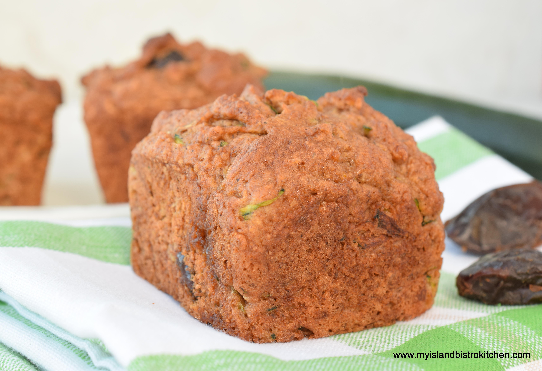 Gluten Free Zucchini Date Muffins