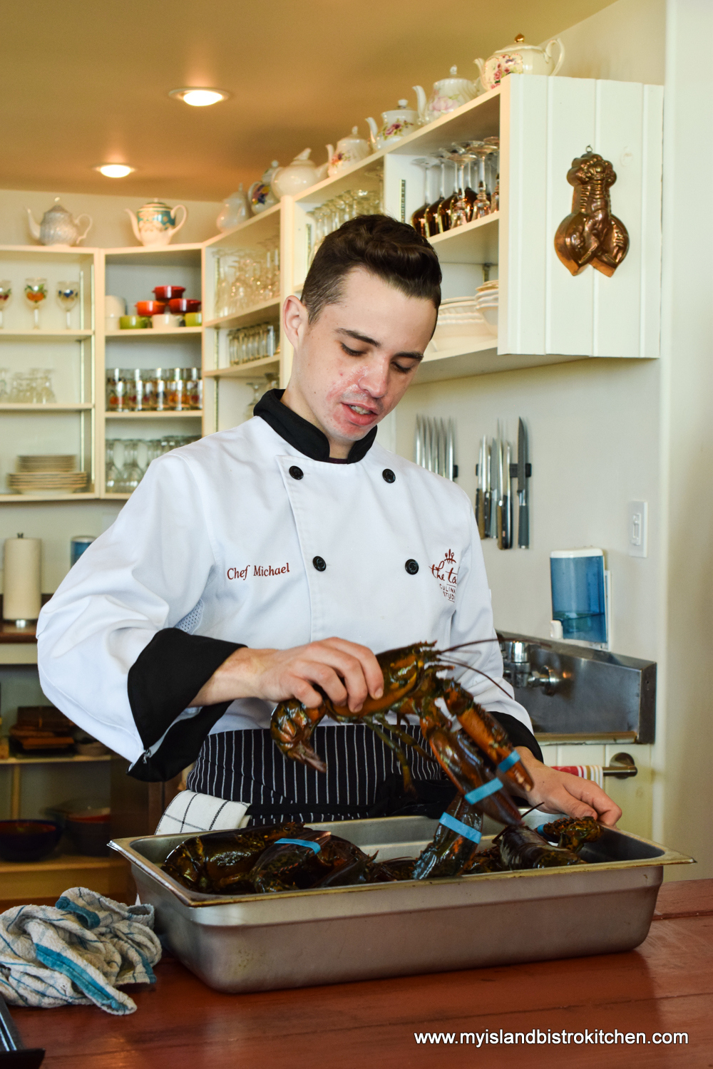 Executive Chef Michael Bradley at The Table Culinary Studio in New London, PEI