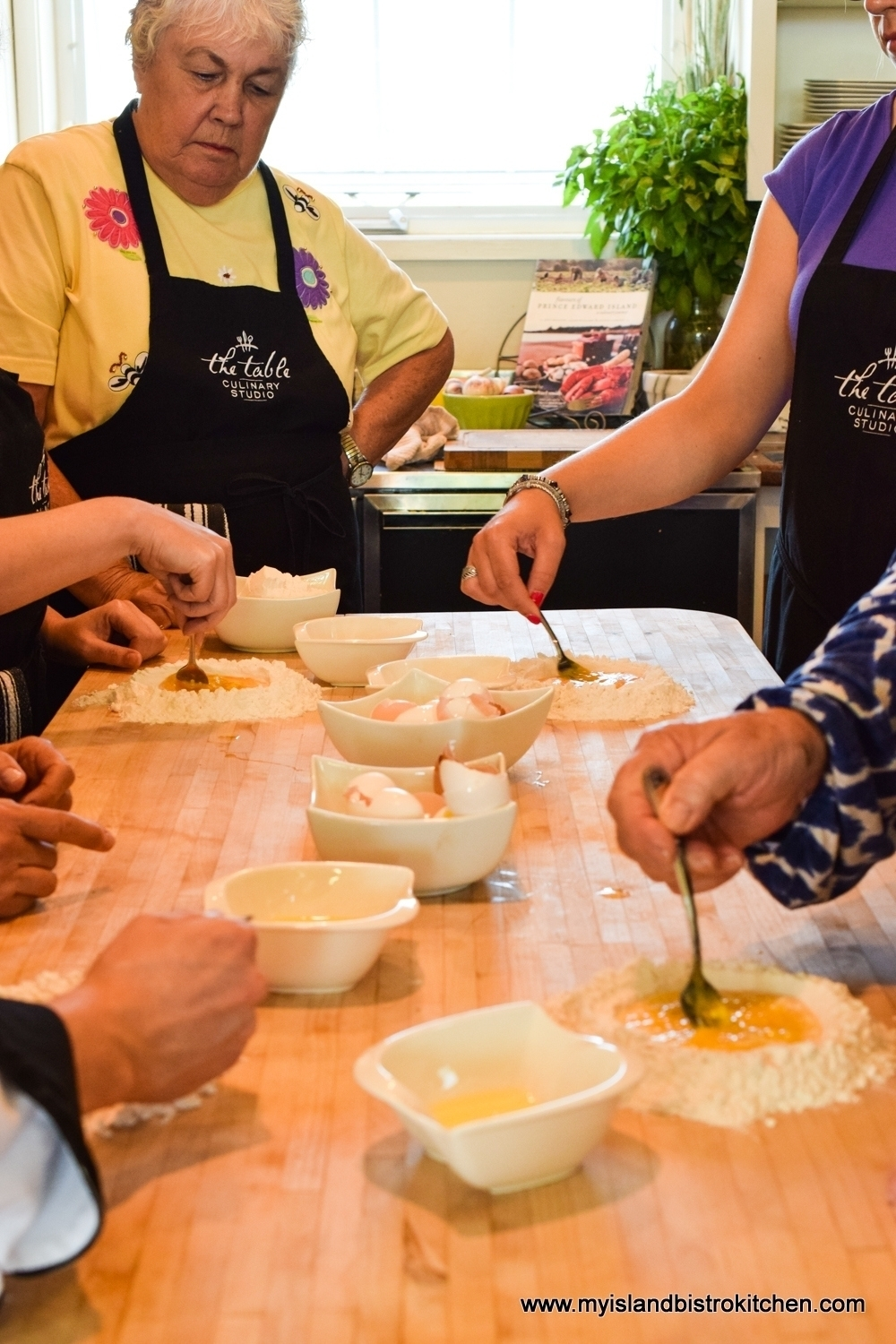 Making Homemade Pasta at The Table Culinary Studio in New London, PEI