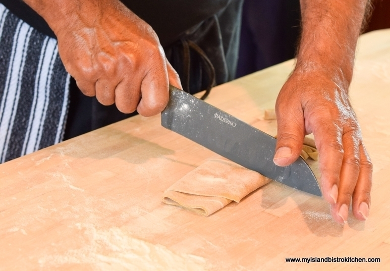 Cutting the Pasta Dough