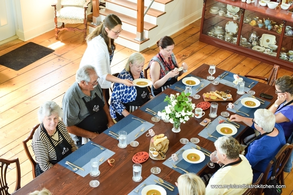 Class Lunch at The Table Culinary Studio in New London, PEI