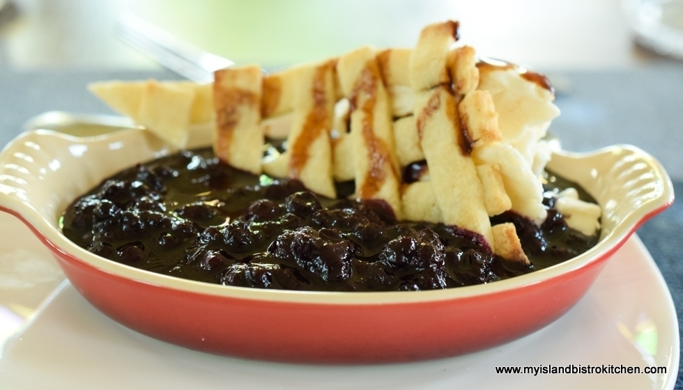 Gluten-free Deconstructed Blueberry Pie - The Table Culinary Studio, New London, PEI