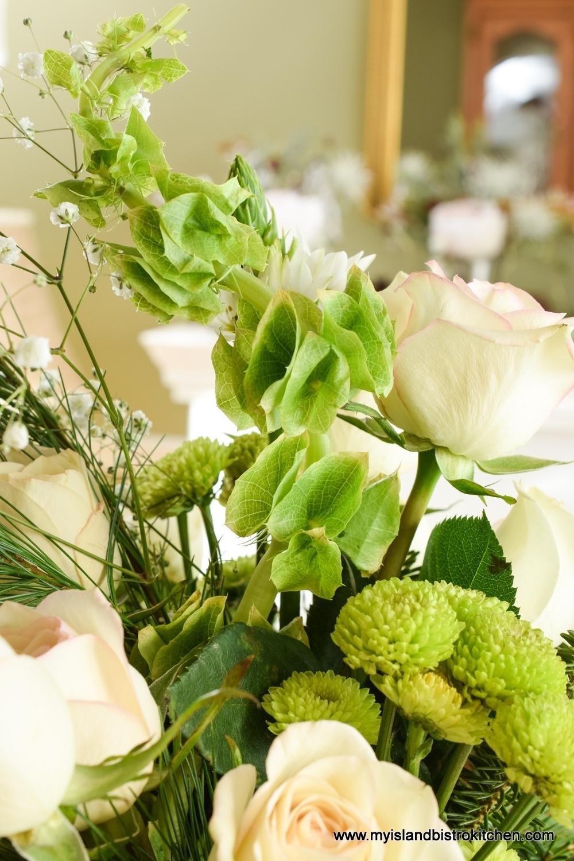Bells of Ireland and Green Chrysanthemums