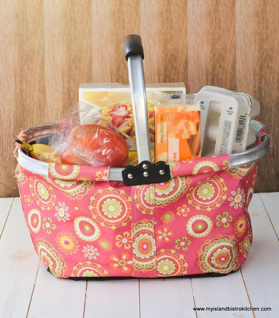 Pink Grocery Shopping Basket