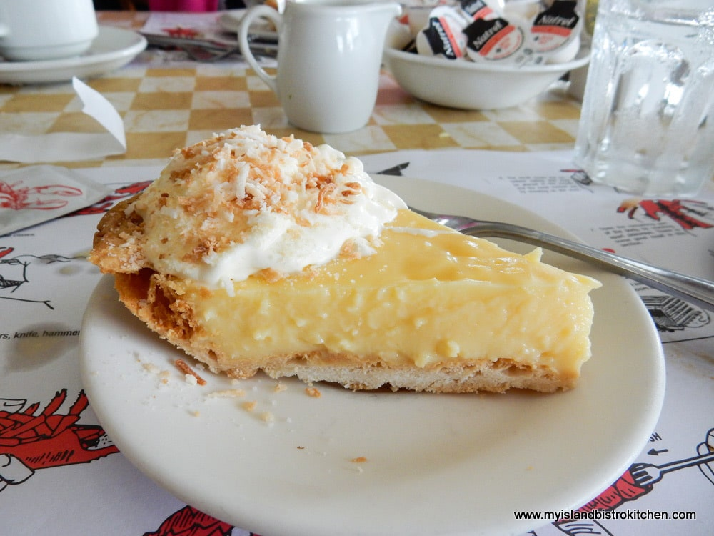 Slice of Coconut Cream Pie at New Glasgow Lobster Suppers