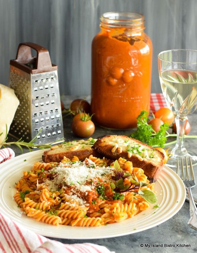 Tomato Sauce over Pasta