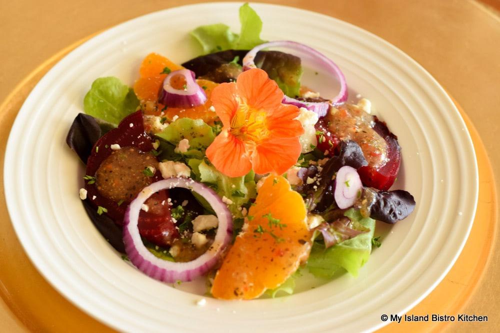 Roasted Beets and Mandarin Orange Salad