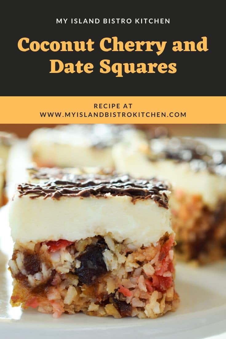 Coconut Date and Cherry Square