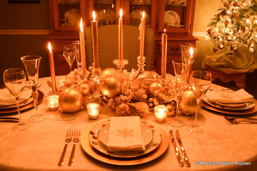 Christmas Candlelight Tablesetting