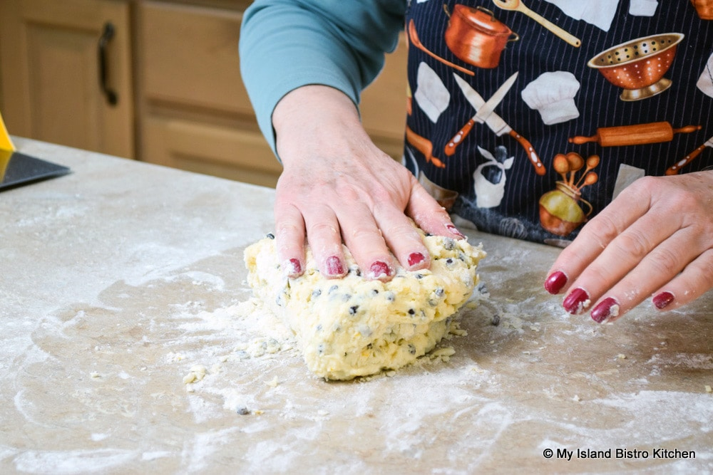 Folding Scone Dough Over Onto Itself