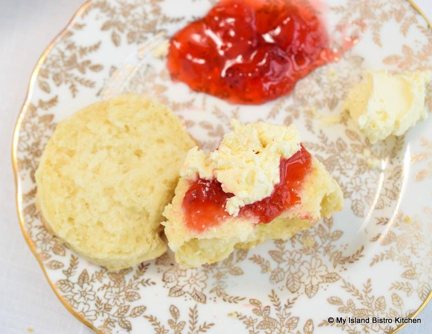 Strawberry Jam on Scone