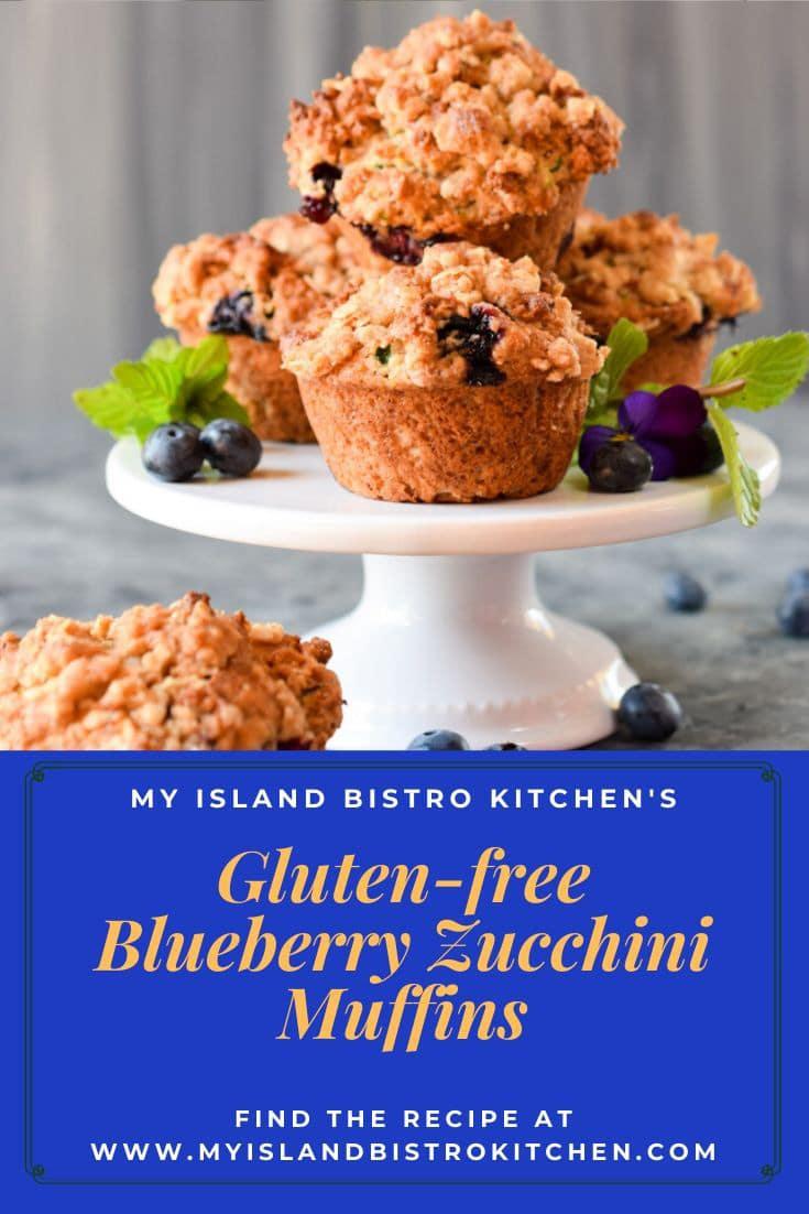Close-up of Gluten-free Blueberry Zucchini Muffins