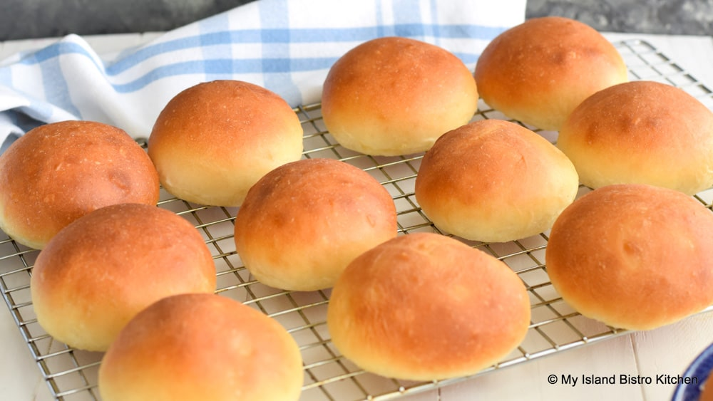 Homemade Rolls on Cooling Rack