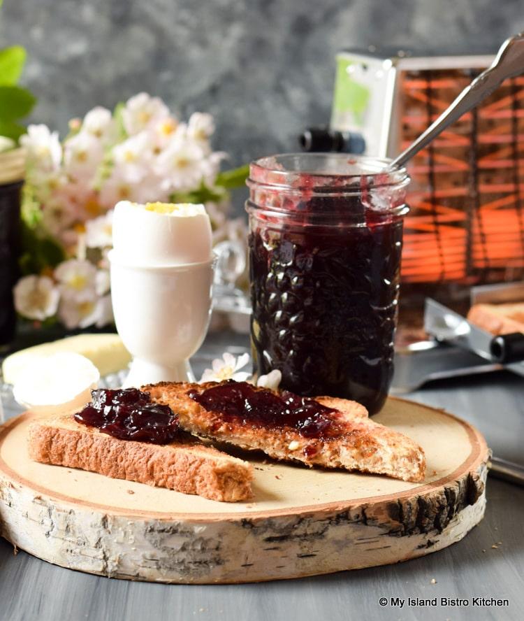 Cherry Jam on Toast