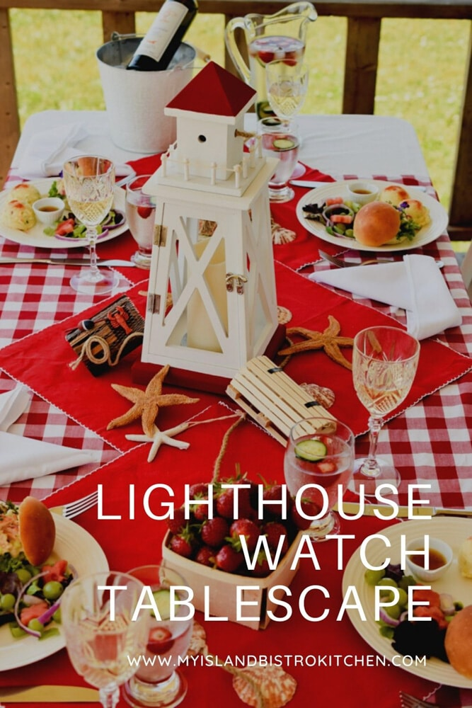 Red and White Summer Tablescape