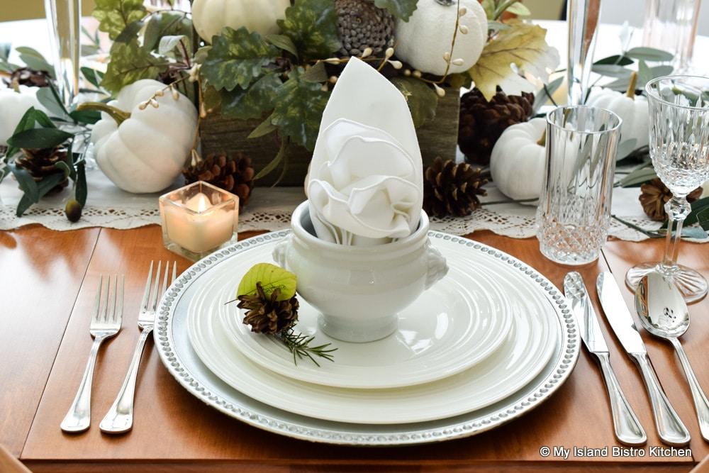 White Dinnerware Placesetting