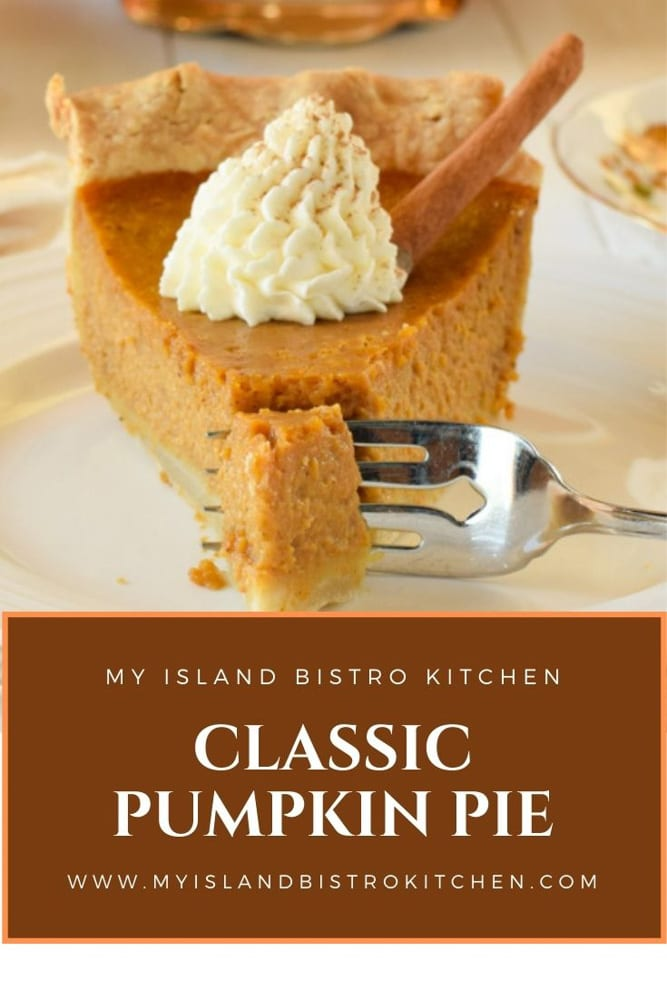 Slice of Pumpkin Pie with a Dollop of Whipped Cream
