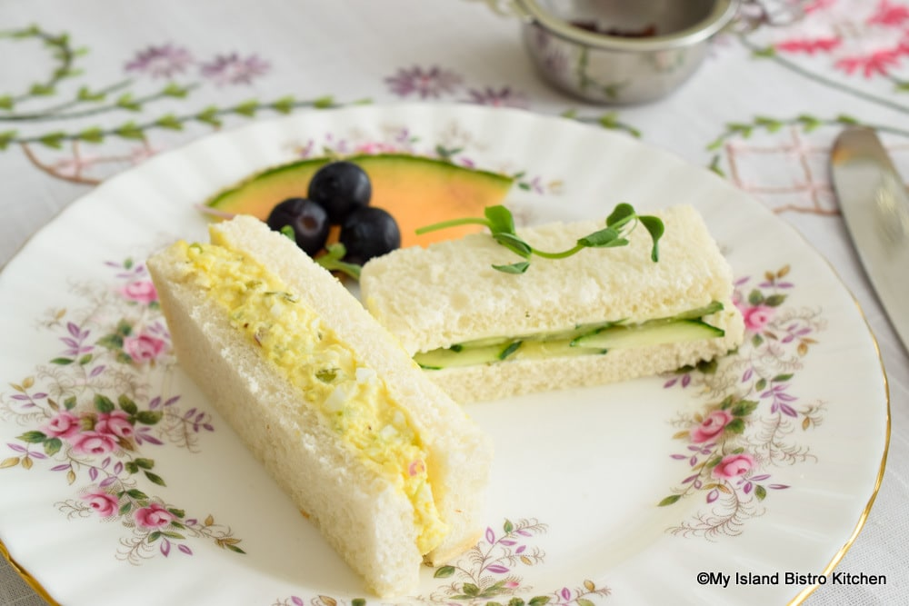 Crustless Egg Salad and Cucumber Sandwiches