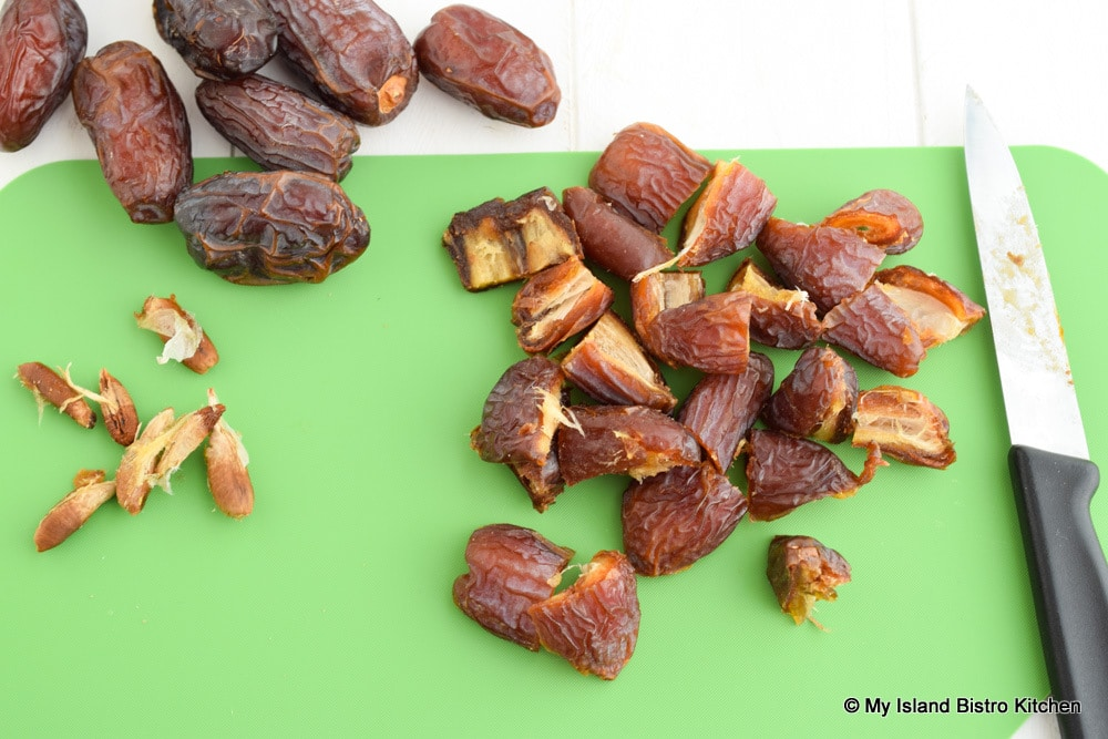 Medjool Dates on cutting board