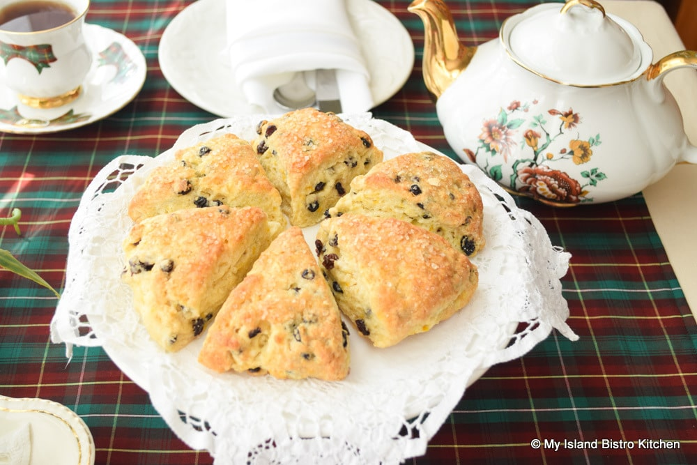 Plate of Currant and Orange Scones