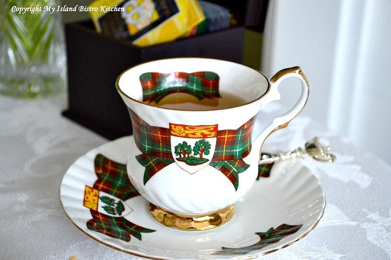 PEI Tartan Cup and Saucer