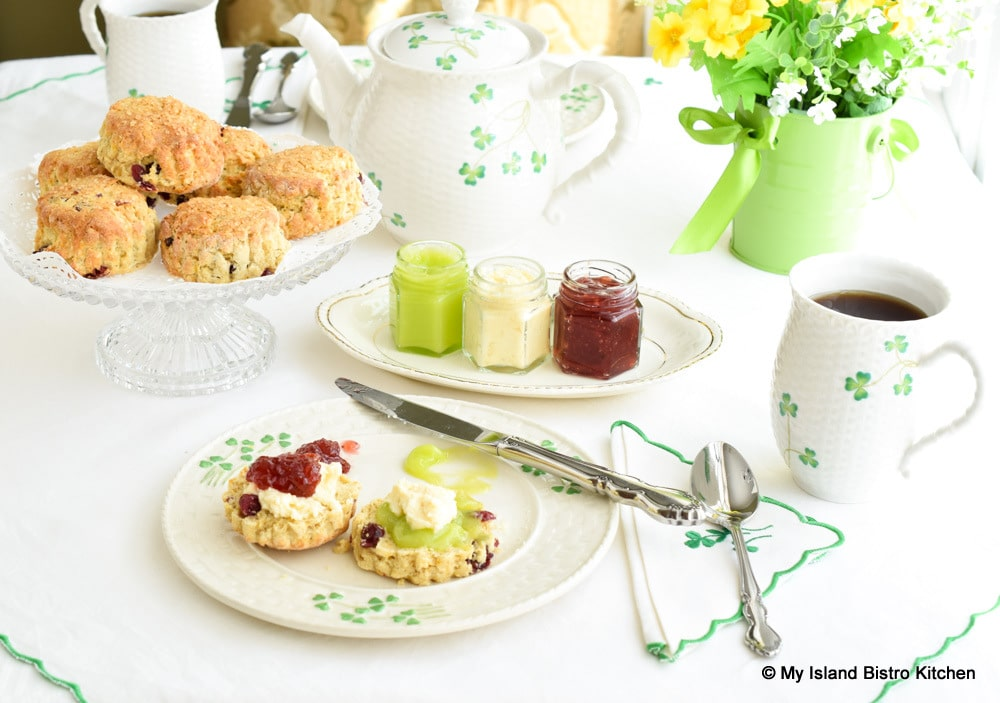 Tea Table with Scones and Lime Curd