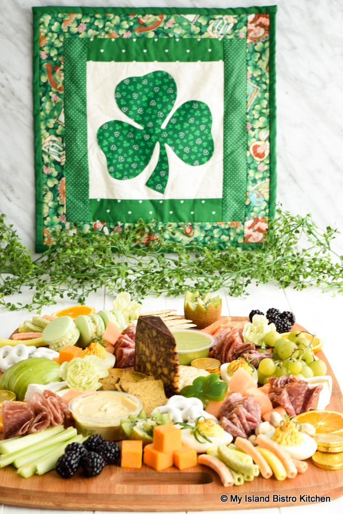 A St. Patrick's Day themed Grazing Board