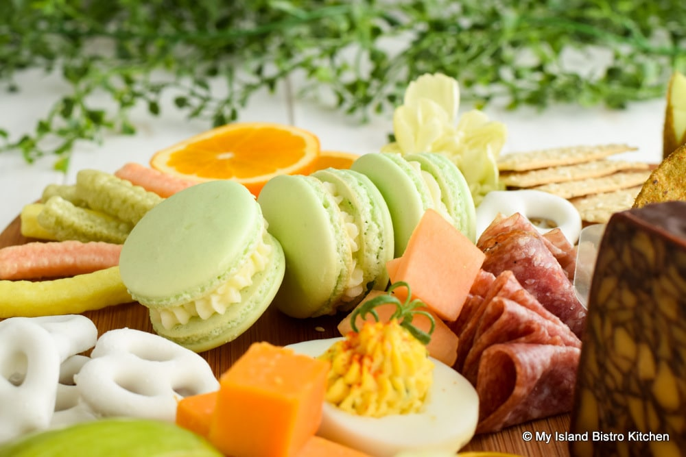 French Macarons on Grazing Board