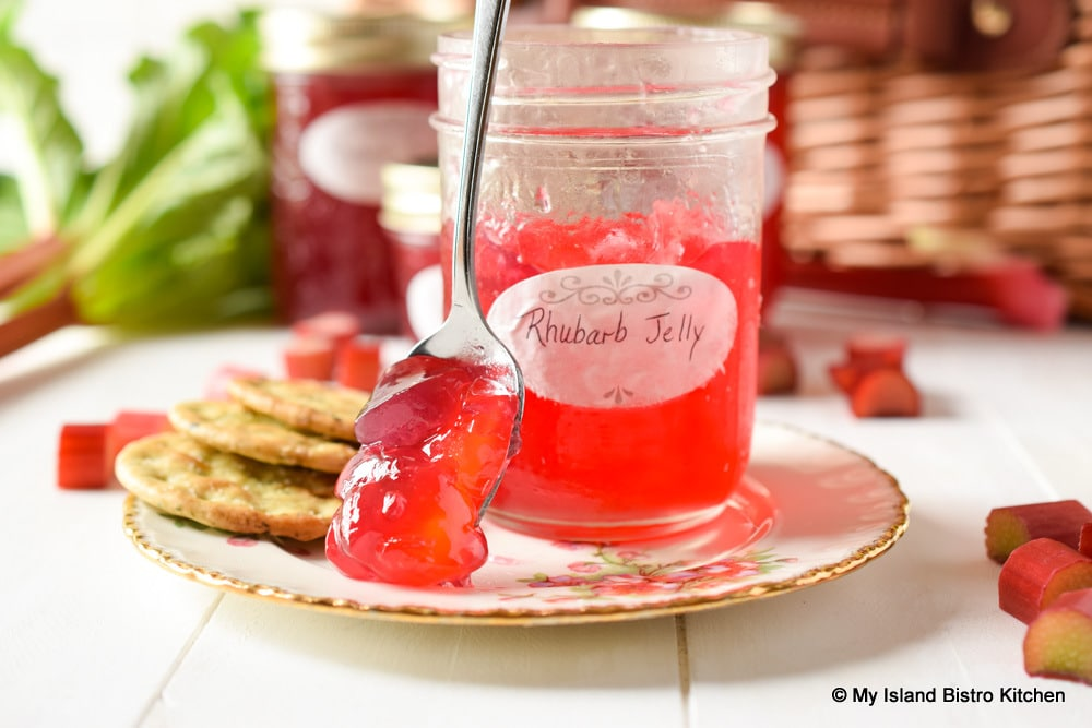 Spoonful of red jelly