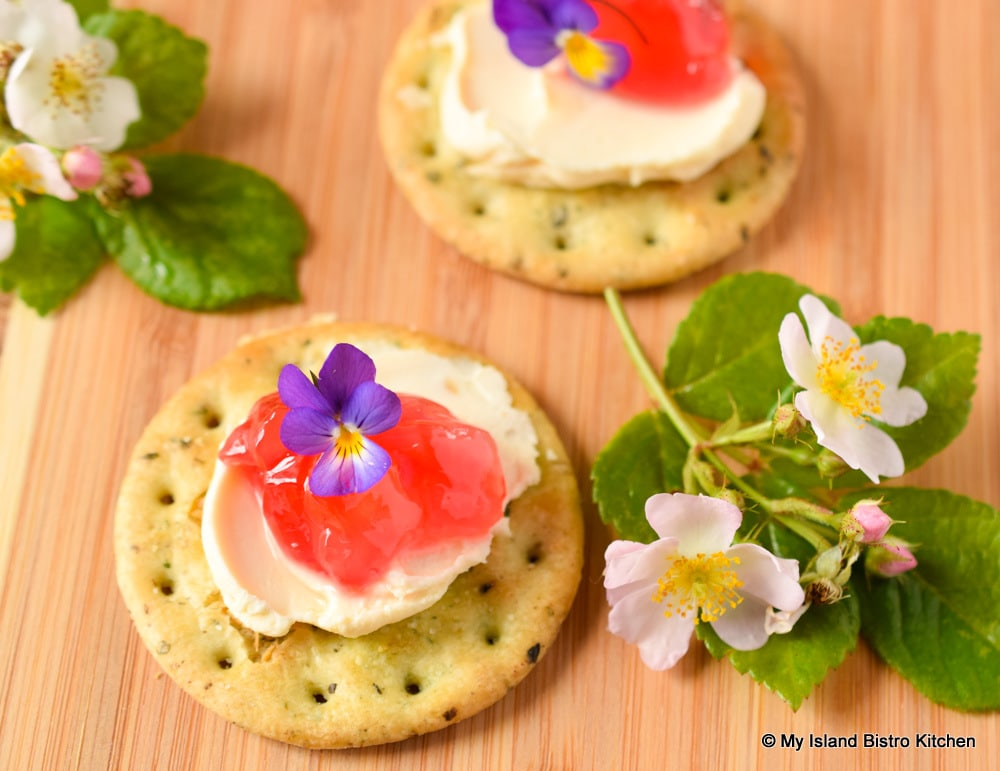 Jelly with Crackers and Cheese