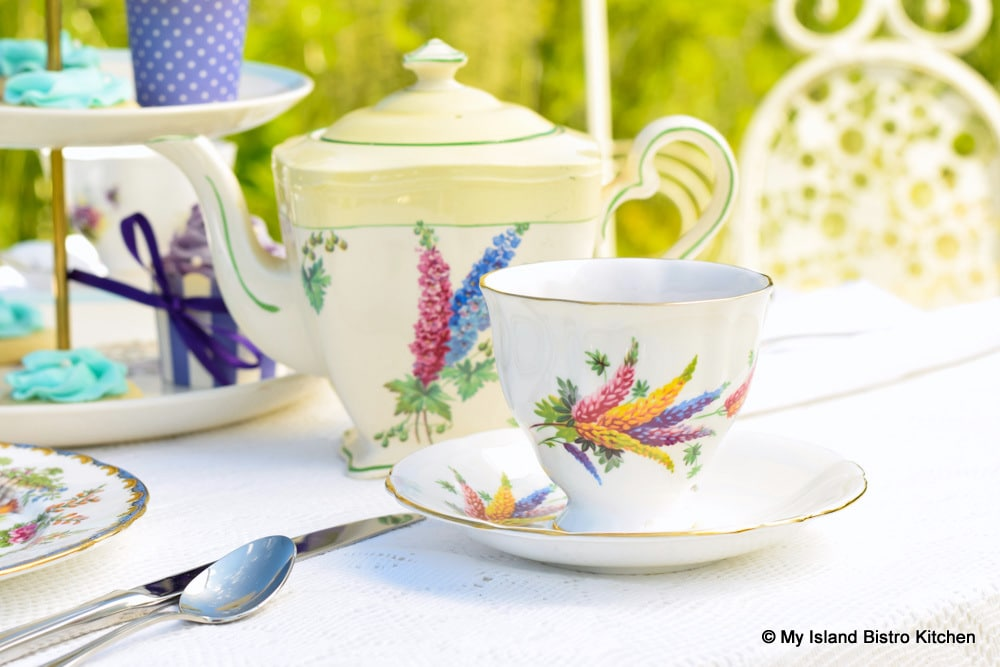 Lupin themed teacup