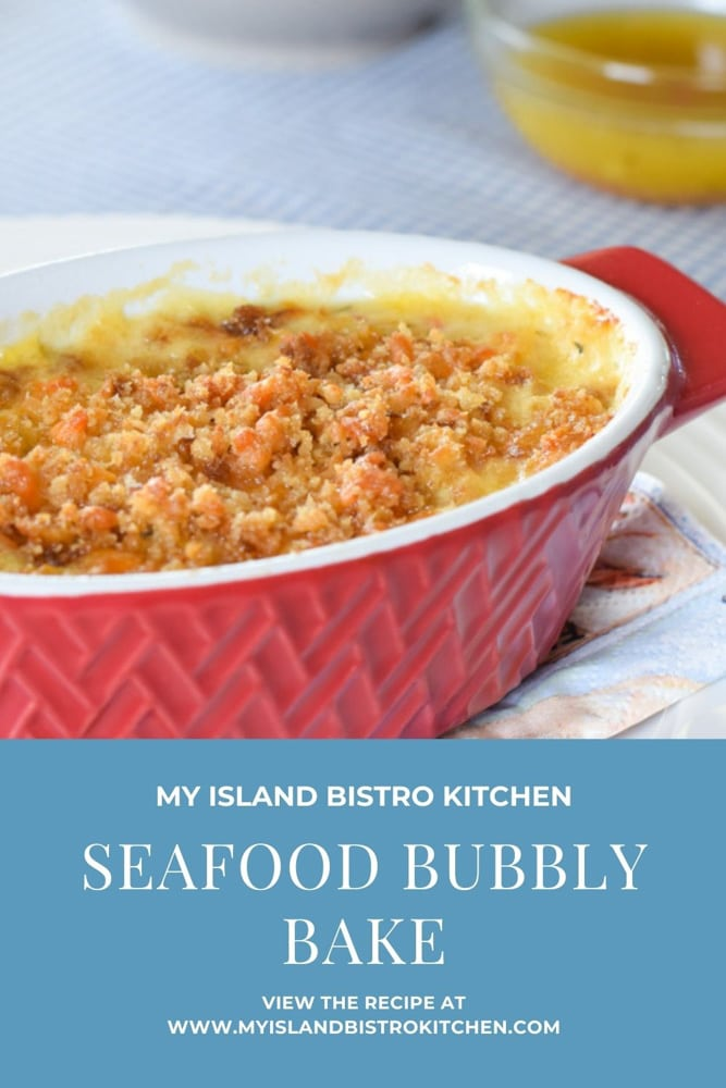 Seafood Casserole in individual baking dish