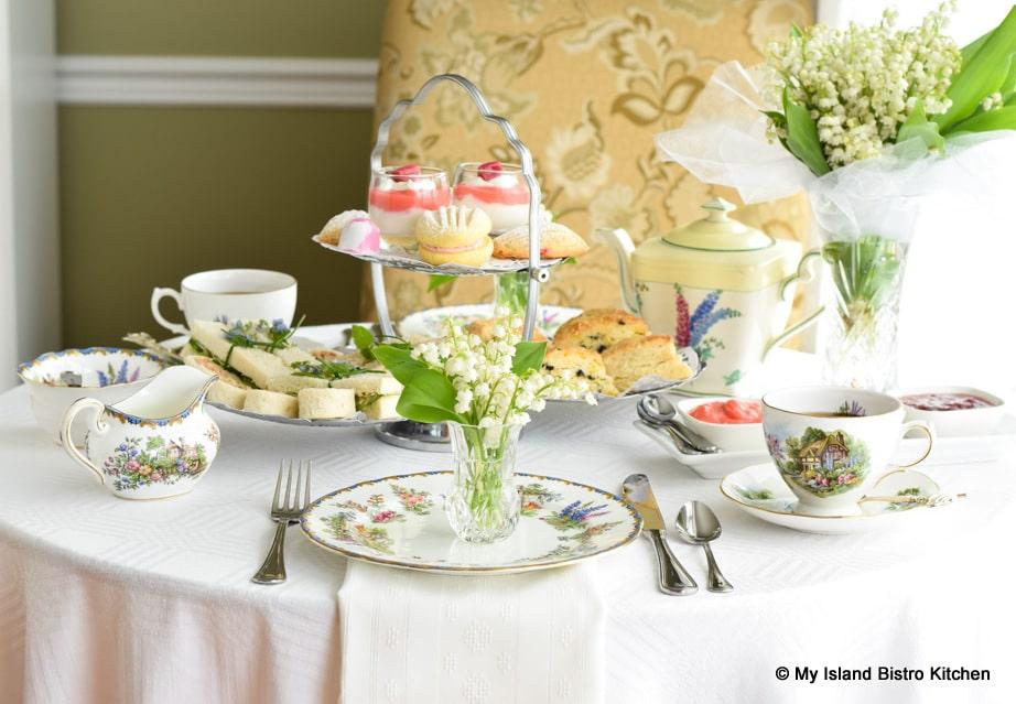 Table set for teatime