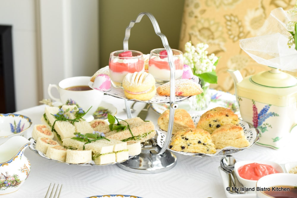 Silver Tea Server Filled with Teatime Treats
