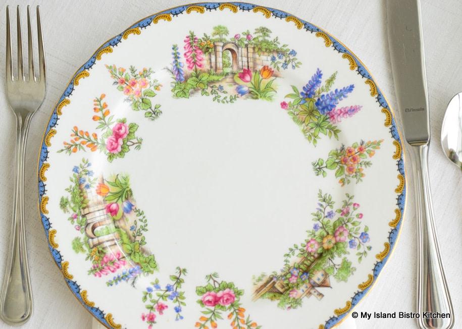 "Aynsley ""Garden Gate"" Plate"