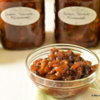 Bowl of Green Tomato Mincemeat